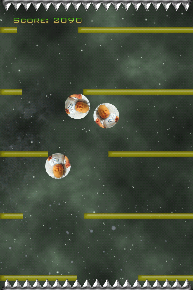 Screenshot Space2D: FallDown